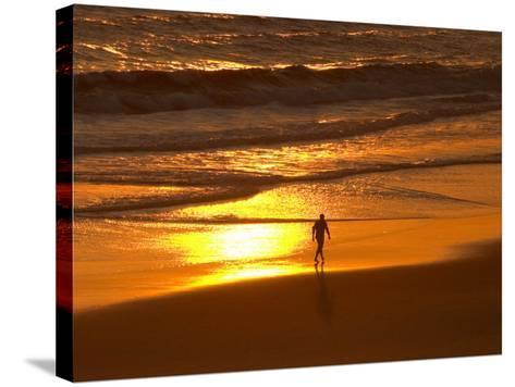 Sunrise, Coolangatta, Gold Coast, Queensland, Australia-David Wall-Stretched Canvas Print