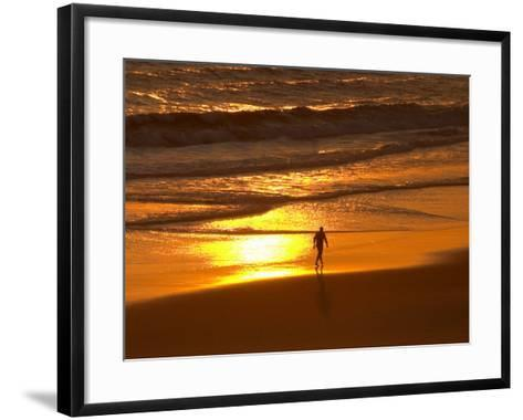 Sunrise, Coolangatta, Gold Coast, Queensland, Australia-David Wall-Framed Art Print