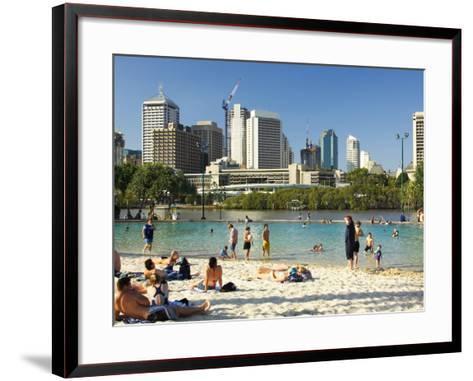 Beach, South Bank Parklands, Brisbane, Queensland, Australia-David Wall-Framed Art Print