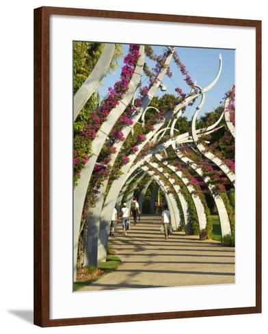 Grand Arbour, South Bank Parklands, Brisbane, Queensland, Australia-David Wall-Framed Art Print