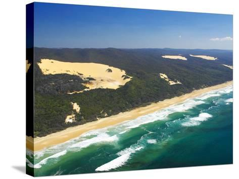 Seventy Five Mile Beach, Fraser Island, Queensland, Australia-David Wall-Stretched Canvas Print