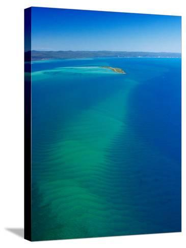 Great Sandy Straits, Little Woody Island and Fraser Island, Queensland, Australia-David Wall-Stretched Canvas Print