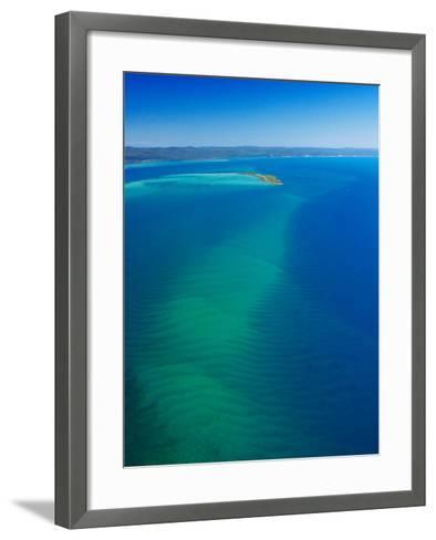 Great Sandy Straits, Little Woody Island and Fraser Island, Queensland, Australia-David Wall-Framed Art Print