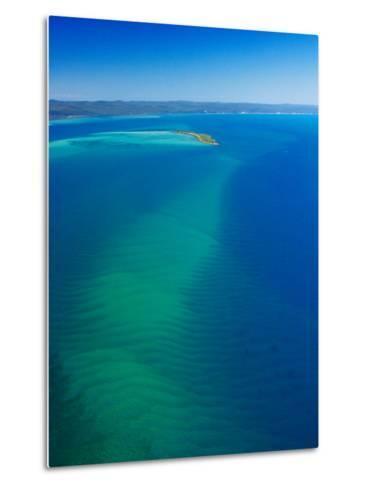 Great Sandy Straits, Little Woody Island and Fraser Island, Queensland, Australia-David Wall-Metal Print