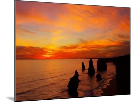 Sunset, Twelve Apostles, Port Campbell National Park, Great Ocean Road, Victoria, Australia-David Wall-Mounted Photographic Print