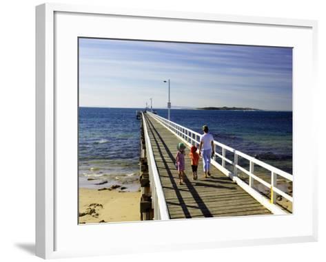 Pier, Point Lonsdale, Port Phillip Heads, Victoria, Australia-David Wall-Framed Art Print