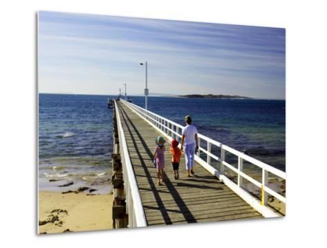 Pier, Point Lonsdale, Port Phillip Heads, Victoria, Australia-David Wall-Metal Print