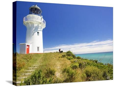 East Cape Lighthouse, Eastland, New Zealand-David Wall-Stretched Canvas Print