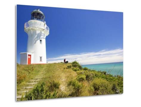East Cape Lighthouse, Eastland, New Zealand-David Wall-Metal Print