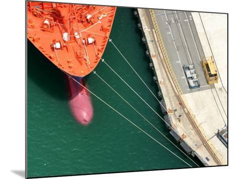 Container Ship, Port Chalmers, Dunedin, South Island, New Zealand-David Wall-Mounted Photographic Print