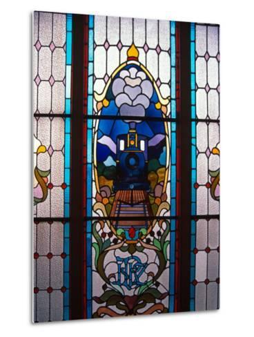 Stained Glass Window, Railway Station, Dunedin, New Zealand-David Wall-Metal Print