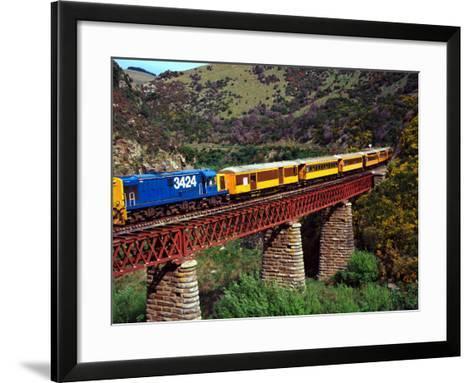 Taieri Gorge Train, near Dunedin, Otago, New Zealand-David Wall-Framed Art Print
