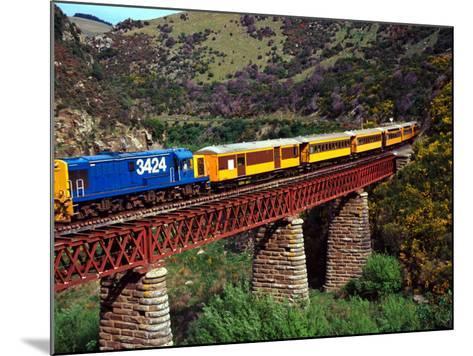 Taieri Gorge Train, near Dunedin, Otago, New Zealand-David Wall-Mounted Photographic Print