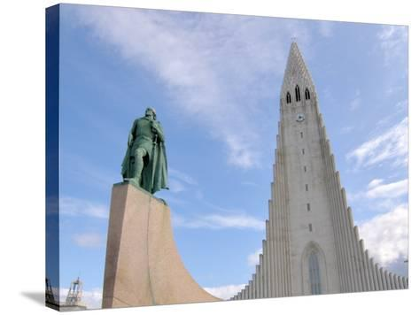Leif Eriksson, Hallgrimskirkja, Reykjavik, Iceland-Lisa S^ Engelbrecht-Stretched Canvas Print