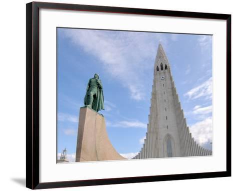 Leif Eriksson, Hallgrimskirkja, Reykjavik, Iceland-Lisa S^ Engelbrecht-Framed Art Print