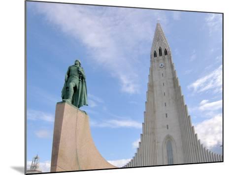 Leif Eriksson, Hallgrimskirkja, Reykjavik, Iceland-Lisa S^ Engelbrecht-Mounted Photographic Print