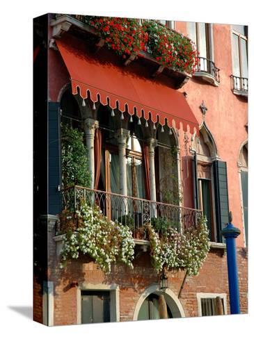 Villa Balcony, Venice, Italy-Lisa S^ Engelbrecht-Stretched Canvas Print