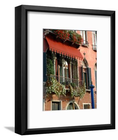 Villa Balcony, Venice, Italy-Lisa S^ Engelbrecht-Framed Art Print
