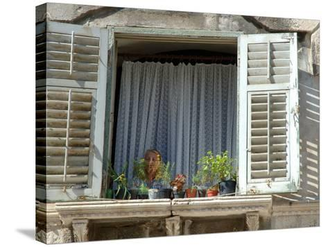 Window in Private Home, Split, Croatia-Lisa S^ Engelbrecht-Stretched Canvas Print