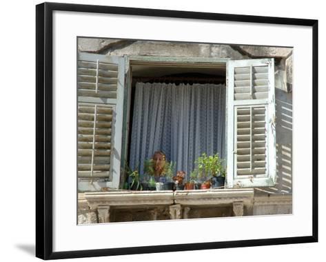 Window in Private Home, Split, Croatia-Lisa S^ Engelbrecht-Framed Art Print