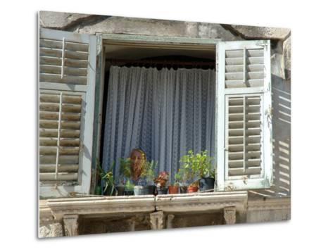 Window in Private Home, Split, Croatia-Lisa S^ Engelbrecht-Metal Print