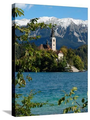 Bled Island and Julian Alps, Lake Bled, Slovenia-Lisa S^ Engelbrecht-Stretched Canvas Print