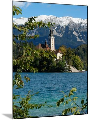 Bled Island and Julian Alps, Lake Bled, Slovenia-Lisa S^ Engelbrecht-Mounted Photographic Print