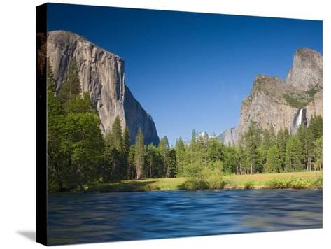 Valley View with El Capitan, Yosemite National Park, CA-Jamie & Judy Wild-Stretched Canvas Print