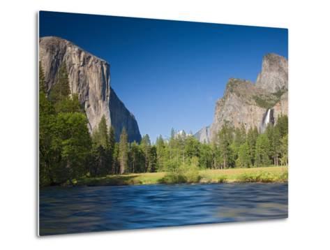 Valley View with El Capitan, Yosemite National Park, CA-Jamie & Judy Wild-Metal Print