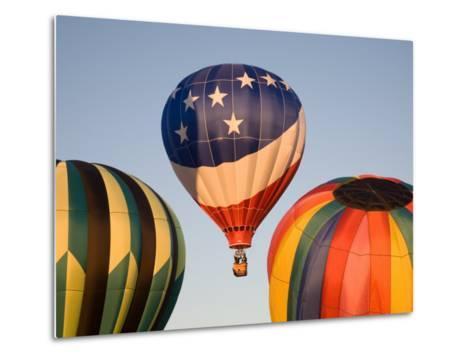 Launching Hot Air Balloons, The Great Prosser Balloon Rally, Prosser, Washington, USA-Jamie & Judy Wild-Metal Print
