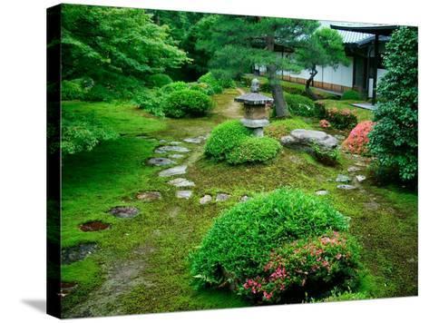 Zen Garden, Kyoto, Japan-Shin Terada-Stretched Canvas Print