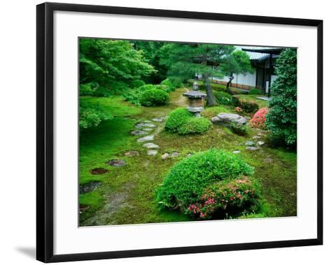 Zen Garden, Kyoto, Japan-Shin Terada-Framed Art Print