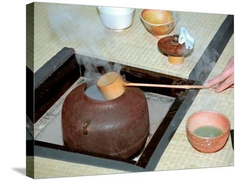 Tea Ceremony, Kyoto, Japan-Shin Terada-Stretched Canvas Print