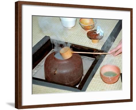 Tea Ceremony, Kyoto, Japan-Shin Terada-Framed Art Print