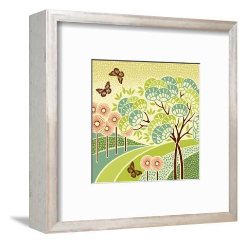 Hazy Day Butterflies--Framed Art Print