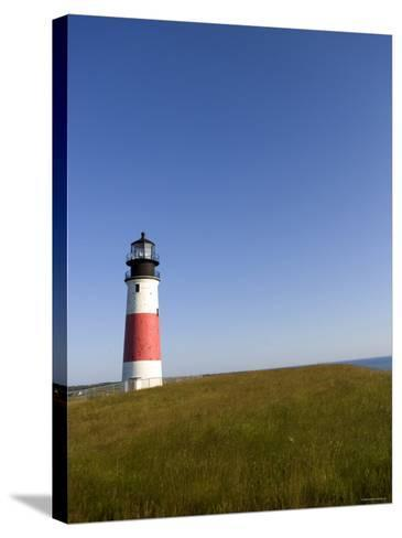 Lone Lighthouse--Stretched Canvas Print
