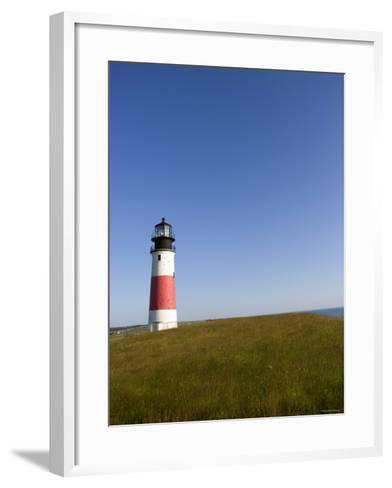 Lone Lighthouse--Framed Art Print