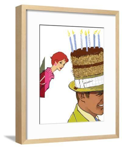Crazy Cake Party - Curious--Framed Art Print