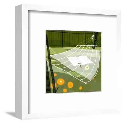 Hammock in the Breeze--Framed Art Print