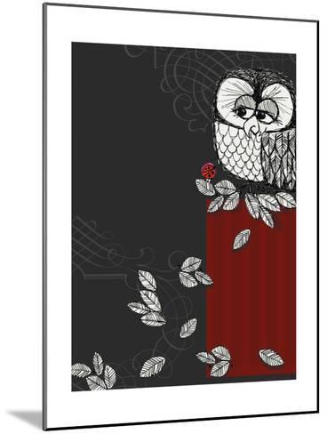 Retro Owl--Mounted Photo