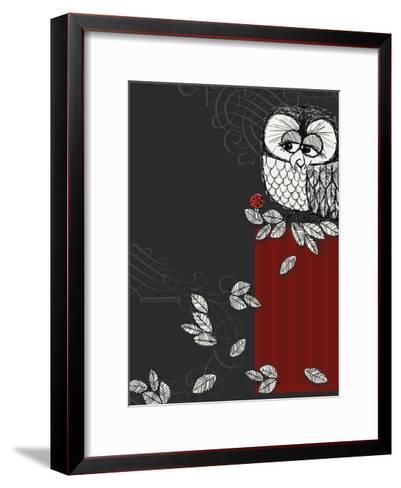 Retro Owl--Framed Art Print