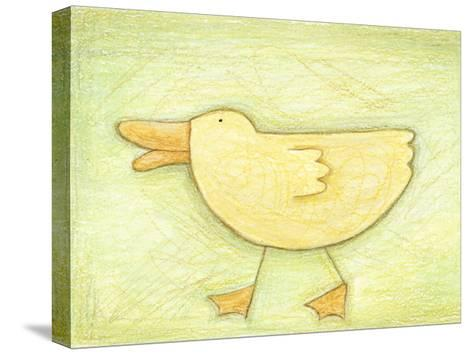 Determined Ducky - Crayon Critter II--Stretched Canvas Print