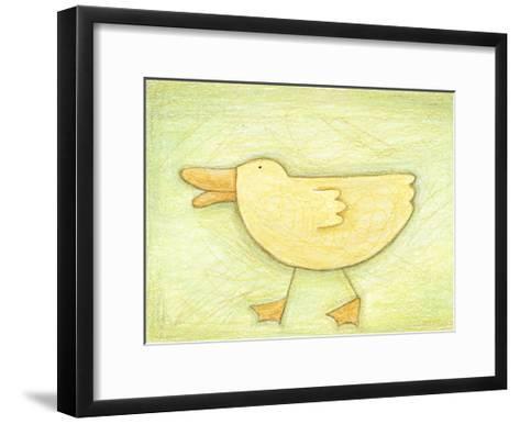 Determined Ducky - Crayon Critter II--Framed Art Print