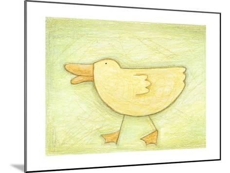 Determined Ducky - Crayon Critter II--Mounted Photo