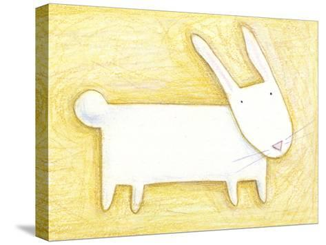 Pensive Bunny - Crayon Critter III--Stretched Canvas Print