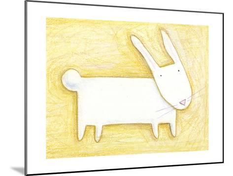 Pensive Bunny - Crayon Critter III--Mounted Photo