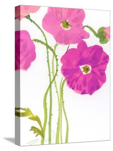 Watercolor Floral--Stretched Canvas Print