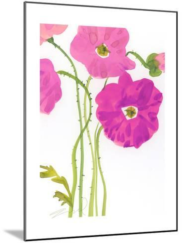 Watercolor Floral--Mounted Photo