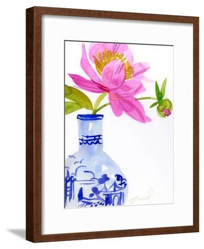 Watercolor Vase--Framed Art Print