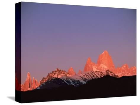 Fitzroy Massif Peak at Sunset, Andes, Patagonia, Argentina, South America-Pete Oxford-Stretched Canvas Print